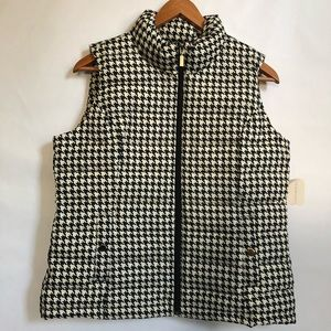 NWT Charter Club Houndstooth Vest Size M